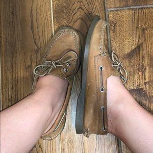 Leather Sperrys